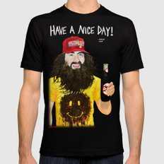 HAVE A NICE DAY! SMALL Mens Fitted Tee Black