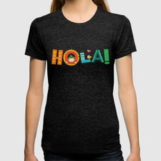 Hola Womens Fitted Tee Tri-Black SMALL