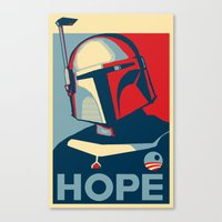 Boba Fett for president  Canvas Print