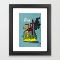 The Two Towers Framed Art Print