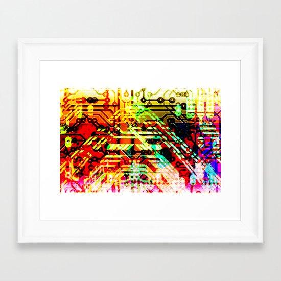 Color circuit Framed Art Print