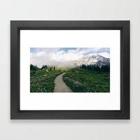 Mt Rainier Path Framed Art Print