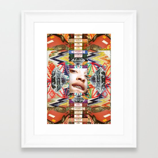 Ferrrarrri Diamondz Framed Art Print