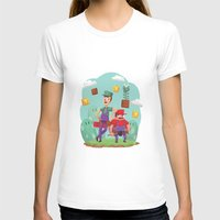 Mario and Luigi! Womens Fitted Tee White SMALL