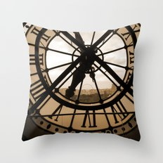 Parisian time Throw Pillow