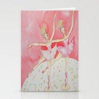 Cupcake Ballerinas Confetti Stationery Cards