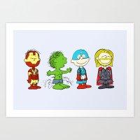 Little Avengers Art Print