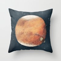 The Red Planet Throw Pillow