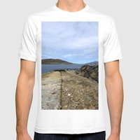 Scarp, Isle Of Harris Mens Fitted Tee White SMALL