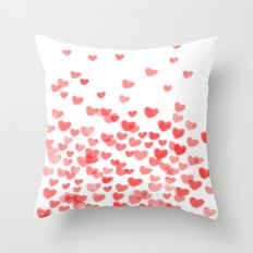 Hearts - Valentines Glit… Throw Pillow