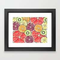 fruit salad Framed Art Print
