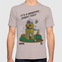 Monster robot toy Mens Fitted Tee Cinder SMALL