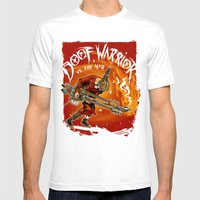 The Doof Warrior vs The Mad Mens Fitted Tee White SMALL