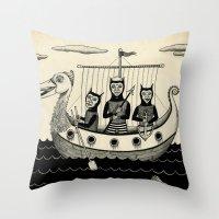 The Harpooners  Throw Pillow