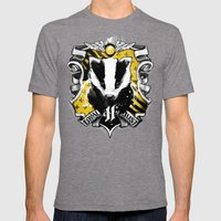 Hufflepuff Daddy Mens Fitted Tee Tri-Grey SMALL