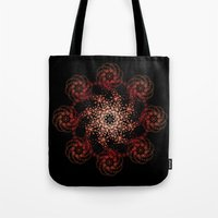 black sun rising Tote Bag
