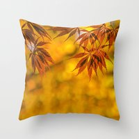 Maple In The Gold Fall Throw Pillow