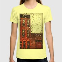 Rainy Day in Brooklyn Womens Fitted Tee Lemon SMALL