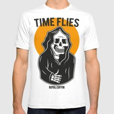 Time Flies SMALL Mens Fitted Tee White