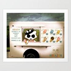 Ice Cream Delivery by NREAZON Art Print