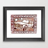OLD MOBILE Framed Art Print