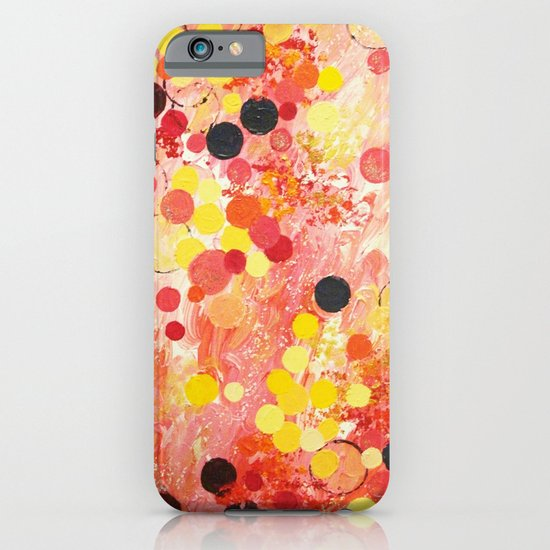 PERSONAL BUBBLE - Hot Pink Bubblegum Pop Fun Whimsical Circles Abstract Acrylic Painting Gift iPhone & iPod Case