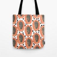 Bold Papayas Tote Bag