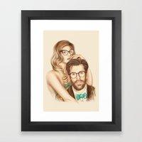 I Love Your Glasses Framed Art Print