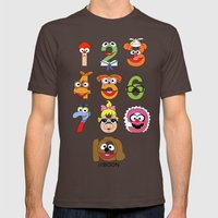 Muppet Babies Numbers Mens Fitted Tee Brown SMALL