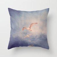 brighton seagulls 2 Throw Pillow