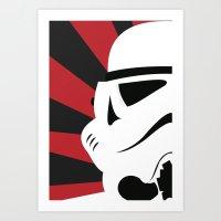Storm Trooper Portrait Art Print