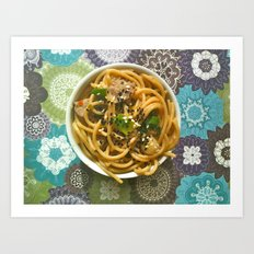 Asian Noodles Art Print