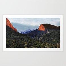 Sunrise trip to the mountains Art Print