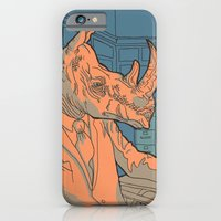 iPhone & iPod Case featuring Being a rhino like a sir by Guapo