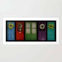 Doors Of Clinton Art Print