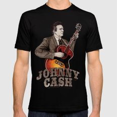 Johnny Cash Mens Fitted Tee Black SMALL