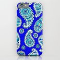 Blue Paisley iPhone & iPod Case