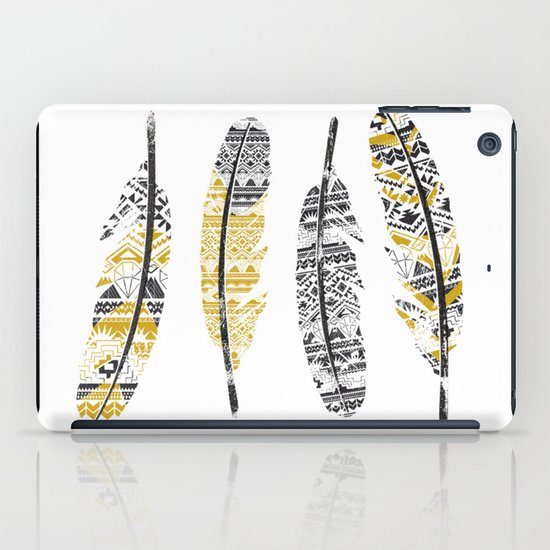Mustard Feathers iPad Case
