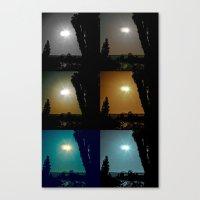 Ecliptical sun over Hollywood, CA Canvas Print