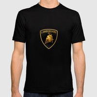 Lamborghini Black Mens Fitted Tee Black SMALL