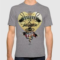 Juxtapozed With You Mens Fitted Tee Tri-Grey SMALL