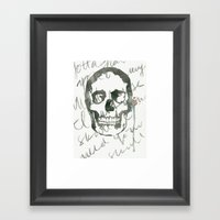 I Want Your Skull Framed Art Print