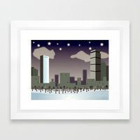 Back Bay Winter Framed Art Print