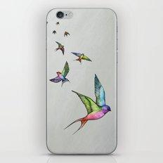 Swallows in Flight iPhone & iPod Skin