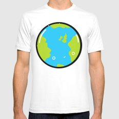 The Earth SMALL White Mens Fitted Tee