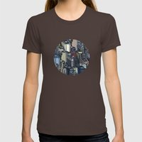 In the city Womens Fitted Tee Brown SMALL
