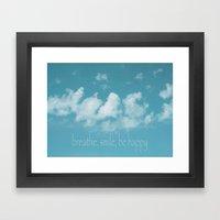 Blue Sky Meditation Framed Art Print
