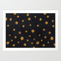 Sunflower Pattern Art Print