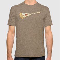 pizza hero Mens Fitted Tee Tri-Coffee SMALL