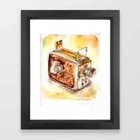 Vintage gadget series: Kodak Brownie 8mm Movie Camera (1956) Framed Art Print
